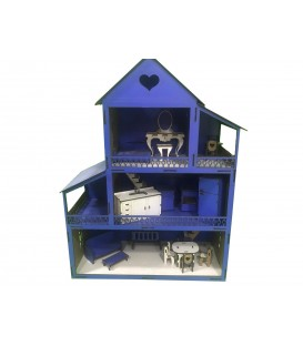 Wooden Blue Lol Baby Playhouse