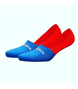 Mavi Kırmızı Renkli Babet Çorap