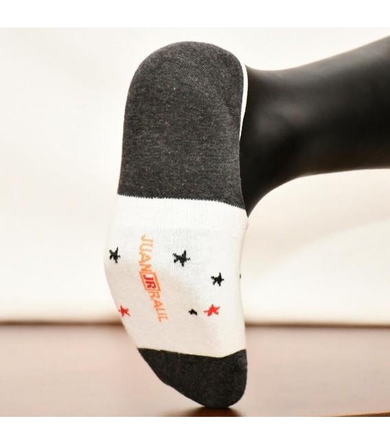 Yıldız Desenli Beyaz Babet Çorap