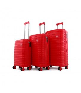 Ehs 10631 Policarbon (PP) 3'lü Valiz Seti Kırmızı