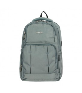 Master Pack Light Gray Patterned Backpack with Laptoptop