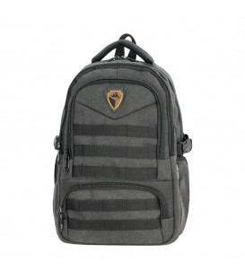 Master Pack Notebook Gray Black Belt Backpack