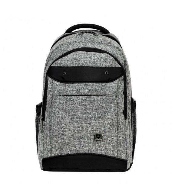 Master Pack Notebook Gray Black Belt Backpack