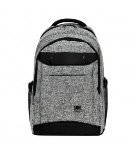Master Pack Gray Black Backpack