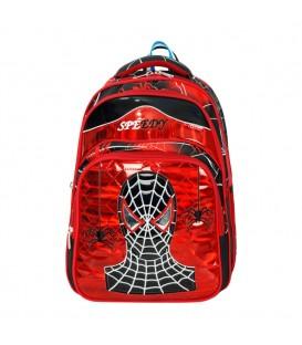Ortopedik Kırmızı Siyah Örümcek Adam İlkokul Çantası+Beslenme Çantası 565