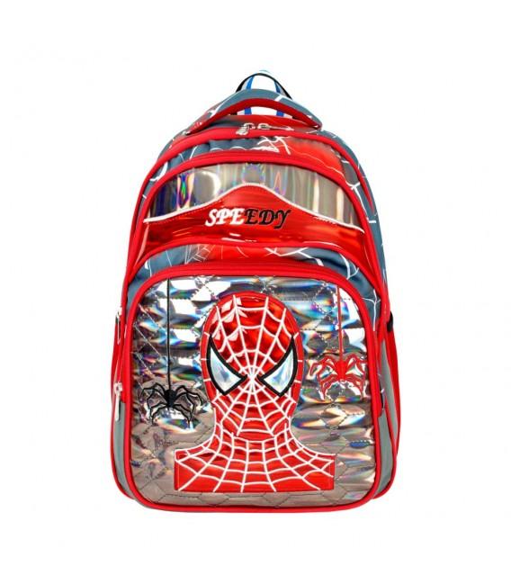Rain Bow Ortopedik Kırmızı Siyah Örümcek Adam İlkokul Çantası+Beslenme Çantası 565