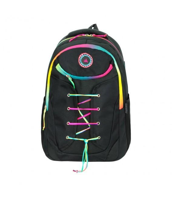 Master Pack Red black Patterned Backpack
