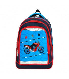 Motosikletli Ortopedik İlkokul Çantası+Beslenme Çantası Master Pack 553
