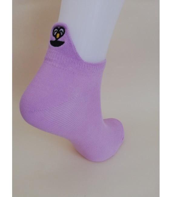 Star Patterned White Ballet Socks