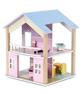 Educational Wooden Bathroom Doll House 360 Degree Rotatable Vardem